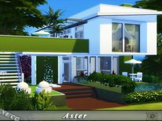 The Sims Resource: Aster house by Danuta720 • Sims 4 Downloads