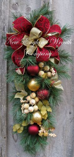 Christmas Swag, Holiday Wreath, Williamsburg, Colonial Christmas, Designer Christmas Wreath, Elegant Holiday Décor on Etsy, $119.00