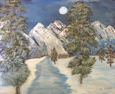 Blue Moon Tetons For sale in print Terry-tuley.pixels.com Acrylic Paintings, Landscape Paintings, Blue Moon, Fine Art, Water, Outdoor, Gripe Water, Outdoors, Full Moon