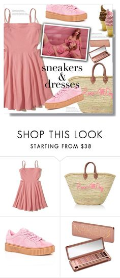 """Sneakers&Dresses"" by queenvirgo ❤ liked on Polyvore featuring Hollister Co., Cape Robbin, For Love & Lemons and Urban Decay"