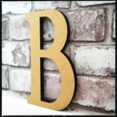 Gold Letter B