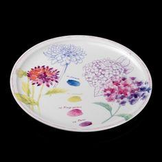 Plat à tarte rond en porcelaine D. 30.5 cm HOLLY COLOR Siléa