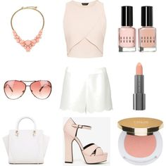 Day out to the Beach by sharnapelling on Polyvore featuring Valentino, Kate Spade, Michael Kors, Isaac Mizrahi, Easy Spirit and Bobbi Brown Cosmetics