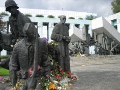 Monument to the Warsaw Uprising...I love this monument...I saw it when I visited Warsaw.