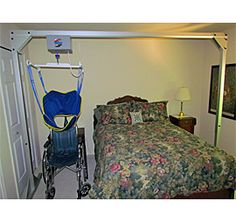 A freestanding overhead lift is ideal for home health care. Avoid the high costs of installed ceiling lifts and the stress and strain of traditional hoyer lifts. It protects both patient and caregiver from injury.