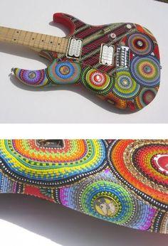 beaded guitar