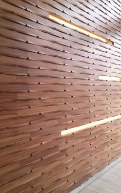 Infuse wallcoverings from the Inceptiv Collection. Available in 12 colors, shown here in American Walnut. Wood Panel Walls, Wood Paneling, Wood Wall, Wall Pannels, Wooden Partitions, Interior Minimalista, Wall Cladding, Inspiration Wall, Wall Patterns