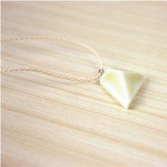 Cream pyramid necklace
