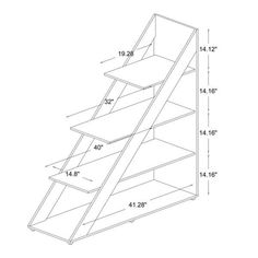 Free up valuable space with this modern shelving unit from Psinta. Featuring a distinctive triangle shape, this abstract shelf creates a unique focal point, which is sure to turn heads. Furniture Deals, Wood Furniture, Living Room Furniture, Furniture Design, Furniture Storage, Wood Projects, Woodworking Projects, Modern Home Office Furniture, Bois Diy