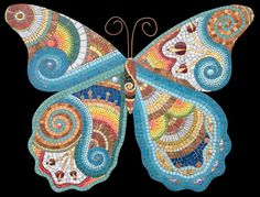 Irina Charny Bright Butterfly http://www.icmosaics.com/