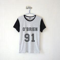 O'brien 91 Baseball T-shirt $13.99 ; Stile Stilinski ; Dylan O'brien ; Teen Wolf ; Fangirl ; Graphic Tees ; Quote ; Teen Fashion ; Shop more #DylanObrien items at http://kissmebangbang.com/product-category/teen-wolf/