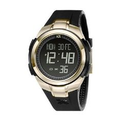 4ca780d37 A-X-Armani-Exchange-Black-Digital-Rubber-Ladies-Watch-AX5018