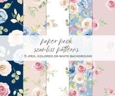 Watercolor Flowers, Watercolor Paper, Floral Texture, Free Advertising, Print Templates, Repeating Patterns, Design Your Own, Planner Stickers, Party Invitations
