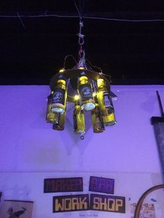 Picture of ChandiliBeer: The LED Beer Bottle Chandelier