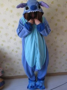 New-Adult-Kigurumi-Pajamas-Pyjamas-Onesie-Blue-Stitch-angel-lilo-Cosplay-Costume