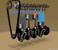 Motor de cuatro tiempos, doble árbol de levas .gif (436×378)