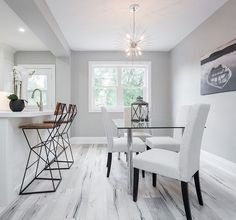 A clean and simple setup by Staging & Styling for Joel Moore. Joel Moore, Dining Bench, Dining Chairs, Modern Interior, Interior Design, Toronto Photographers, Real Estate Photography, Scene Photo, Hgtv