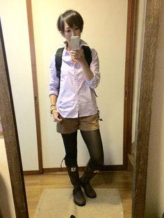 9月25日 日本野鳥の会ブーツとMUJIシャツでMIXコーデ                                                                                                                            もっと見る