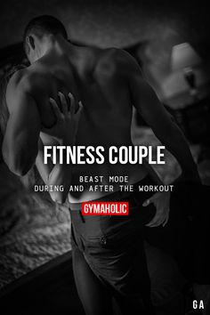 Fitness Couple Beast mode, during and after the workout.