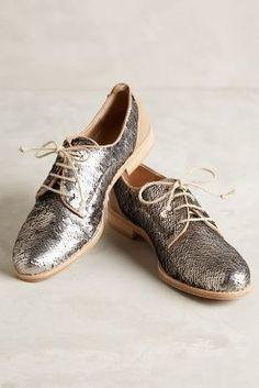 Hoss Intropia Spangled Oxfords Silver