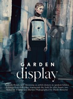 'Garden Display' Jean Campbell by Paolo Roversi for Uk Vogue May 2014