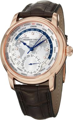 Men Watches : Frederique Constant Worldtimer Men's Automatic Watch FC-718WM4H4