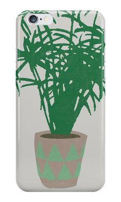 """""""Houseplant With a Cool Pot"""" iPhone Cases & Skins by opul 