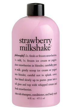 Philosophy 'strawberry milkshake' shampoo, conditioner & body wash. Love these products, they all smell fantastic! I love the coconut one's too.
