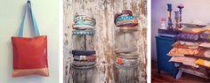 tasbyas maakt tassen, kussens, kleedjes, etuitjes, wikkel-armbanden, etc. van oude dekens (kussens en kleedjes) in combinatie met leer (van leerstalen). Dus het grootste gedeelte is hergebruik van materialen. Het zijn stuk voor stuk unieke items in mooie kleuren en combinaties. TasByAs omschrijft zichzelf als Rauwe Keurigheid.  zo 8 juni | Festival Met hart en ziel | www.tasbyas.nl