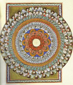 St. Hildegard von Bingen (German writer, composer, philosopher, Christian mystic, Benedictine abbess, visionary, and polymath; 1098-1179) ~ 'Visions of the Angelic Hierarchy'