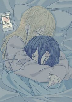 Anime Girlxgirl, Kawaii Anime, Yuri Anime, Kawaii Art, Cute Lesbian Couples, Lesbian Art, Cute Anime Couples, Anime Couples Sleeping, Anime Couples Cuddling