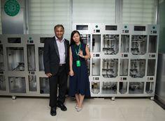 India customer visiting winbo 3D Printer showroom