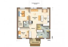 B88-10 - Jukkatalo Floor Plans, Heel, Floor Plan Drawing, House Floor Plans