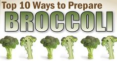 Here's our top to ways to cook broccoli. Broccoli has been touted as a superfood, and for good reason- lots of vitamins and fiber and it's low in calories! Get creative with these easy broccoli recipes...