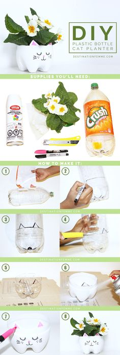 Porta vaso con bottiglia plastica