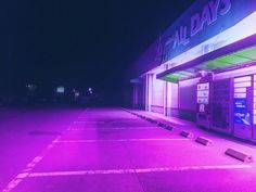 Outside breaking gas station retro aesthetic, aesthetic grunge, purple aesthetic, vaporwave, soft Purple Aesthetic, Aesthetic Grunge, Retro Aesthetic, Night Aesthetic, Vaporwave, Soft Grunge, Neon Noir, Night Vale, Retro Waves