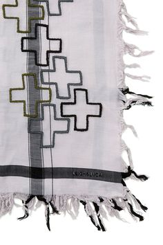 Not really a scarf person, but this would let me make an exception... Leigh & Luca Cross Embroidered Scarf