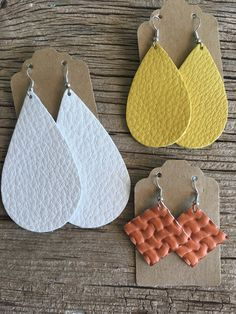 Spring leather earrings!