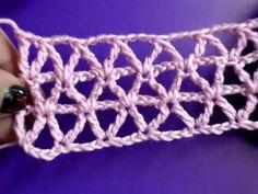 Вязание крючком - Урок 178 - Диагональная сеточка