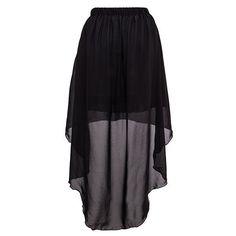 Short Skirt With Sheer Dip Hem Overlay (€14) ❤ liked on Polyvore featuring skirts, mini skirts, bottoms, saias, black, beige, layered skirt, beige mini skirt, sheer mesh skirt and sheer overlay skirt