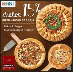 Diskon 15 Persen di Pizza Hut Setiap Weekend Pizza Hut, Waffles, Breakfast, Food, Waffle, Hoods, Meals