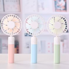 Cute Cooling Fan New Type Colorful LED Light Bear//Rabbit Portable Cooling Fan Summer Office Table Stand Cooler for Best Gift Household Office Pink Rabbit