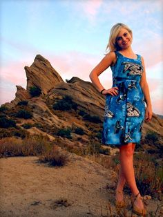 New dress from vintage Star Wars sheets (and a gorgeous, Tatooine-esque backdrop!)