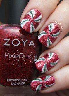 Adventures In Acetone: Christmas #nail #nails #nailart