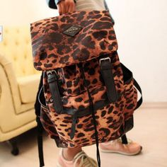 Cheap Fashion New Leopard Print Backpack&School Bag , Fashion Backpacks - Bags For Big Sale! Cheap Fashion New Leopard Print Backpack&School BagJust $26.00 . Cheap Fashion New Leopard Print Backpack&School Bag Construction: Top handle. Adjustable strap. Front zip pocket. Two side pockets. A zippered patch pocket. in Atwish.com