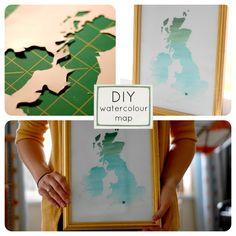 Creating Paper Dreams: Tutorial- Watercolour Map