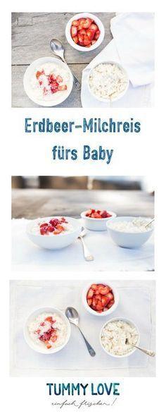 Erdbeer-Milchreis fürs Baby aber auch für Mama | Tummy Love Rezepte
