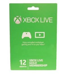 Microsoft Xbox LIVE 12 Month Gold Membership for Xbox 360 / XBOX ONE $35.99