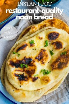 Indian restaurant-style naan bread made quick and easy with dough proofed in the Instant Pot Tips to make that perfect naan at home! Vegan Indian Recipes, Asian Recipes, Naan Recipe, One Pot Dinners, Pressure Cooker Recipes, Slow Cooker, Instant Pot Dinner Recipes, Winter Food, Easy Meals