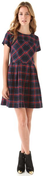 Shoshanna Allison Plaid Dress in Multicolor (multi) - Lyst